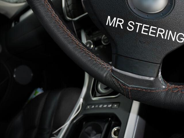 Fits Acura TSX Mk True Leather Steering Wheel Cover Brown - Acura steering wheel cover