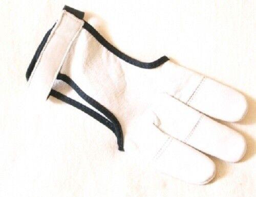 Schiesshandschuh HUNTER ZIEGE weiß S Bogenschießen Handschuh Schießhandschuh