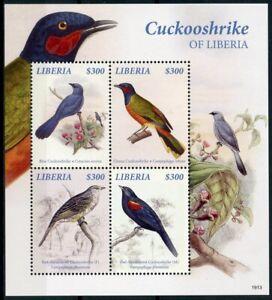 Utile Liberia 2019 Neuf Sans Charnière Bleu Ghana Cuckooshrike 4 V M/s Oiseaux Timbres-afficher Le Titre D'origine Handicap Structurel