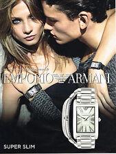 PUBLICITE ADVERTISING 035  2011  EMPORIO ARMANI collection montre SUPER SLIM