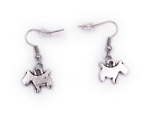Ohrringe Paar Hund Schwanz happy Ohrring aus Metall Ohrschmuck