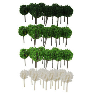 200Pcs/Pack 4cm Models Tree Layout Z 1/300 Scale for Diorama Scenery Decors