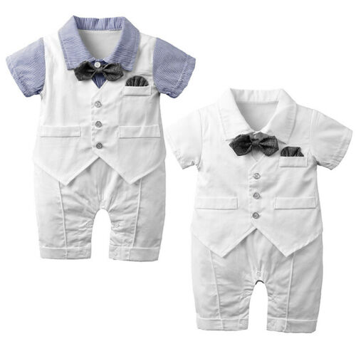 Kinder Strampler Kleinkind Drei Teile Anzug Modisch Overall Jungen Stehend Bund