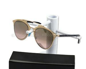 1527232e9 Christian Dior Reflected 321OR 52 Rose Gold/Gold Flash Mirror Womens ...