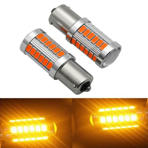 Amber 1156 33SMD LED Bulbs Turn Signal Stop Light For BMW E30 E36 E46 E34 E39 X3