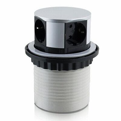 Bituxx Steckdosenturm Versenkbar Tischsteckdose 4-fach Stecker