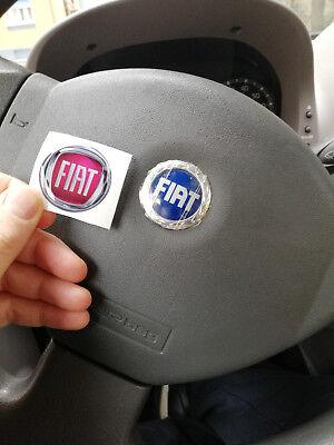 Rosso Adesivo 3M Stickers Resinato Effetto 3D Logo Badge Stemma Per Volante Auto