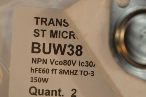 2 transistors BUW38 NPN Vce80V Ic30A  TO-3 ST MICROELECTRONICS