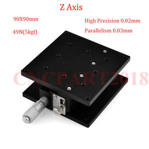 Z Axis Trimming Platform Linear Stage 40//60//90MM Bearing Tuning Sliding Table