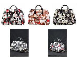Travel Bag Holdall MONROE Trolley MARILYN Luggage Vintage Hand 0q4TBnpw7