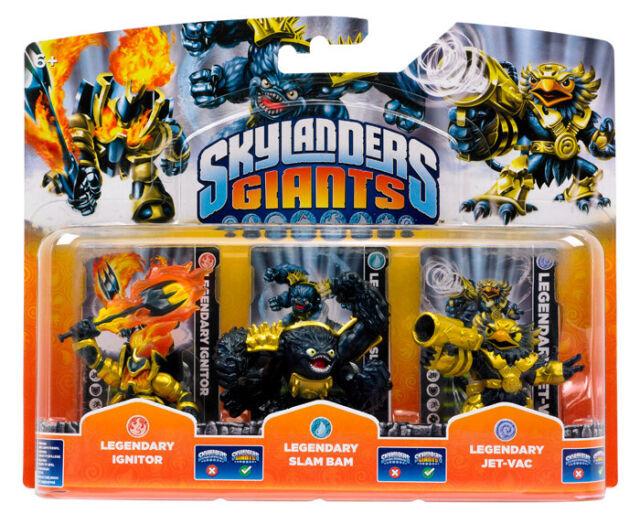 Skylanders Giants Triple Pack Exclusive Legendary Jet-Vac / Slam Bam / Ignitor