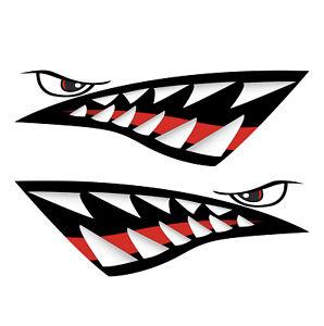 JETSKI-SHARK-TEETH-decals-ratlook-hoodride-high-quality-laminated