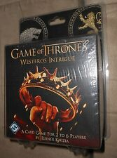 Game of Thrones - Westeros Intrigue - Card Game For 2-6 Players - NEW, Sealed