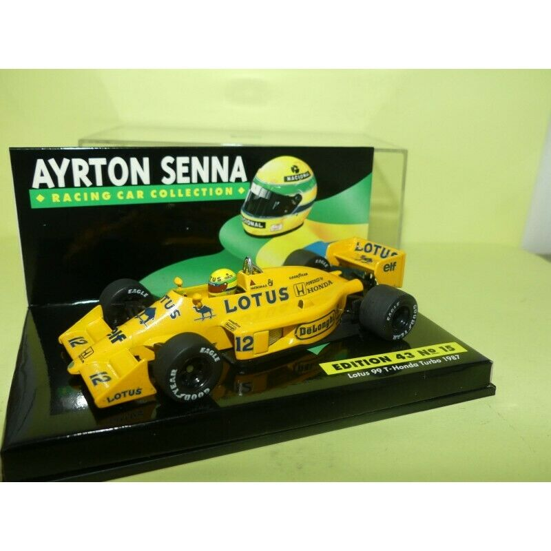 LOTUS 99 T HONDA TURBO GP 1987 A. SENNA MINICHAMPS 1 43