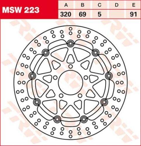 1996 TRW Lucas msw223 Disque de Frein SUZUKI GSX-R 750 gr7db Bj