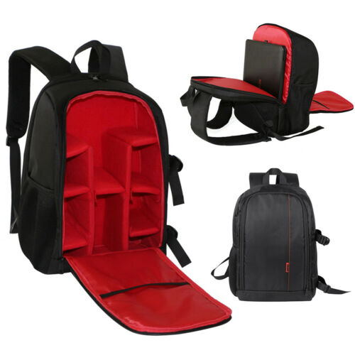 Large Waterproof DSLR Camera Backpack Laptop Bag Shoulder Case For Canon Nikon