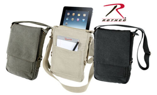 Rothco 5795 Brand NEW Vintage Style Canvas Tech Tablet Travel Pouch Shoulder Bag