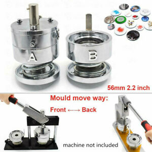 25mm Mold TOAUTO Button Badge Machine 25mm 1inch DIY Stainless Steel Mold Punching Die Round Button Mold for Button Maker Machine