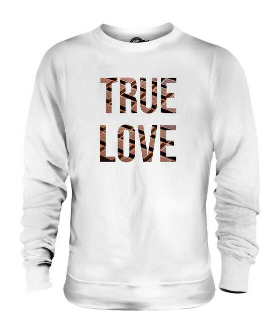 CHOCOLATE TRUE LOVE UNISEX SWEATER  TOP GIFT COCOA DARK