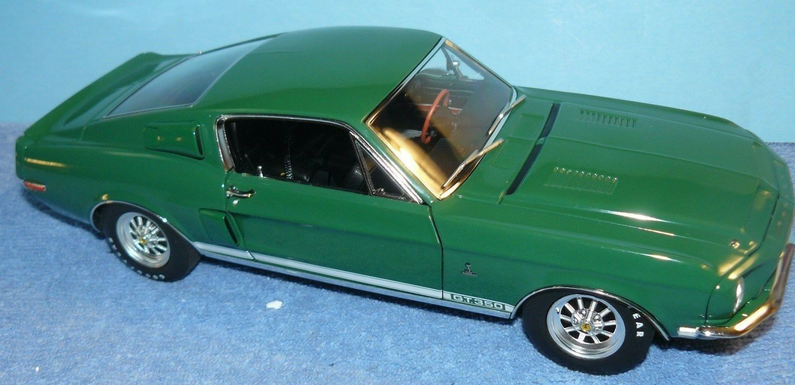 1   18,   1968er ford shelby mustang gt 350 wt 7018 ein diecast modell