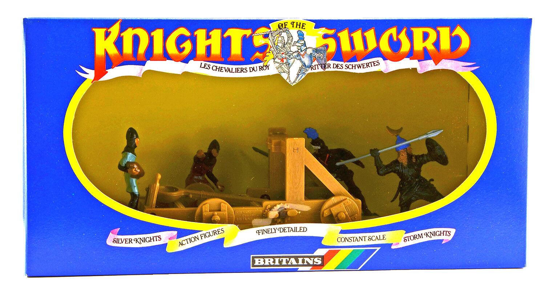 Britter Deetail Catapult och 4 Storm Knights- mint-in-låda- poser varierar