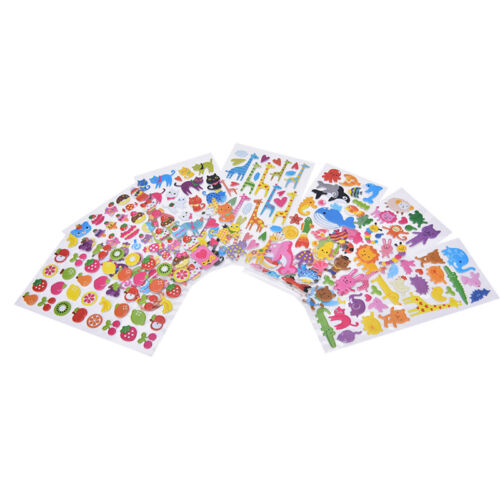 Kawaii Cartoon 3D Bubble Stickers DIY Diary Scrapbook Album Phone Sticker YN