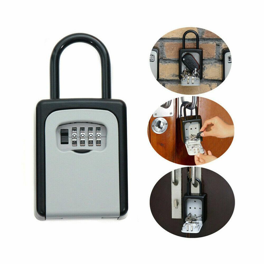 4 Digit Combination Password Safety Key Lock Box  Padlock Or