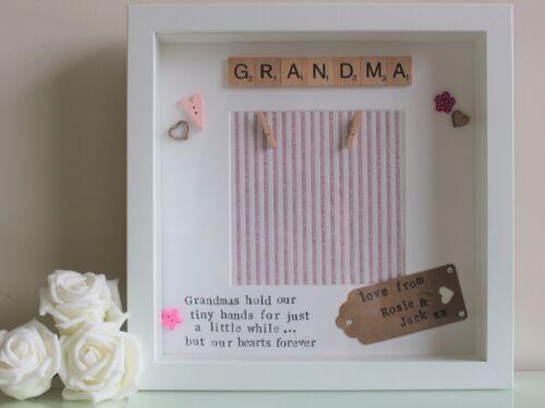 Navidad Personalizada Scrabble Marco Mamá Regalo de cumpleaños regalo de la abuela Nana