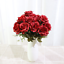 Wedding Flowers Silk Rose Flower Vase Display Floral Centerpiece Home Decoration