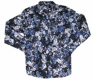 INC-Mens-Shirt-Blue-Size-XL-Button-Down-Longsleeve-Floral-Print-69-139