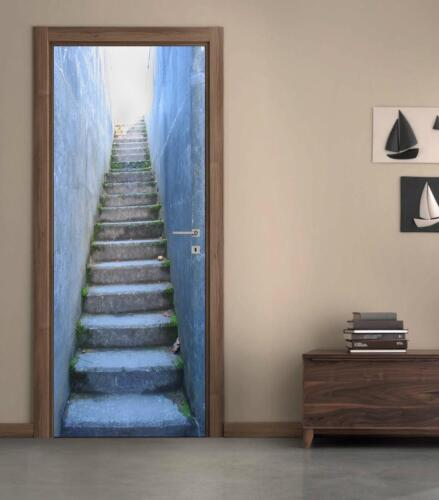 Stairway Illusion DOOR WRAP Decal Wall Sticker Home Decor Mural Art D214