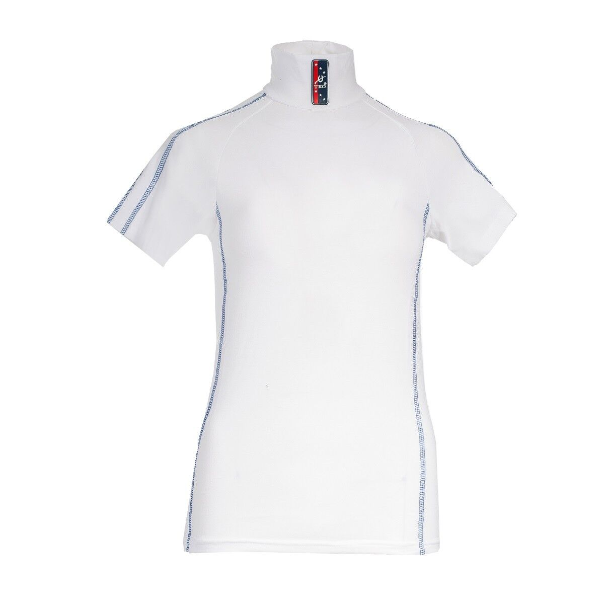 Horze Ladies Women's  White TKO Cotton Stretch English Riding Short Sleeve Shirt  the newest brands outlet online