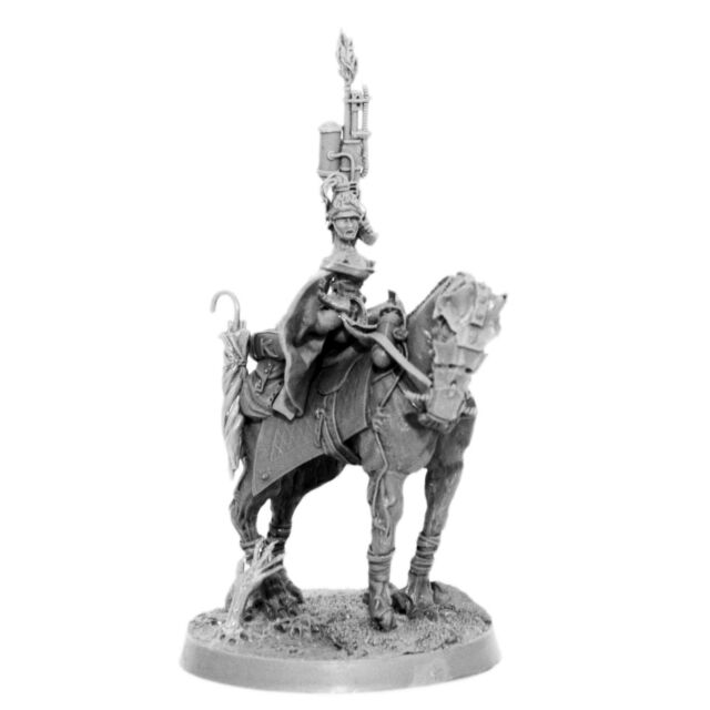 28mm-scale IMPERIAL SOLDIER MOUNTED BLITZ KRIEG KORPS FEMALE COMMISSAR