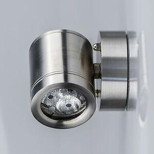 LED-Aussenwandleuchte-Edelstahl-Tageslicht-Gartenstrahler-Gartenlampe