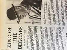 a1o ephemera 1949 article king of the beggars joseph cheroux st pierre