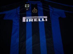 best service 91a11 f83b6 Details about Inter Milan Soccer Jersey FC Football Club Pirelli Blue  Jianwang Shirt XL NEW