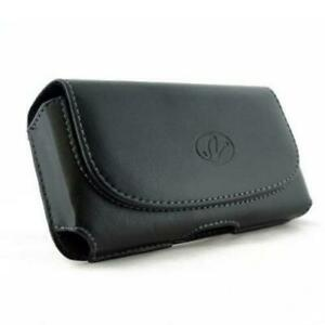 BLACK-LEATHER-SIDE-CASE-SIDE-COVER-POUCH-BELT-HOLSTER-CLIP-M9Y-for-Smartphones