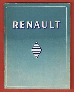 Renault Plaquette Publicitaire En Anglais Photos Usine 4cv