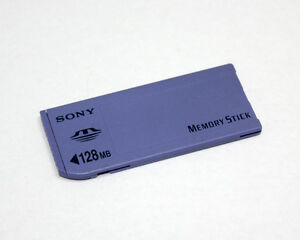 sony 128mb memory stick non pro ms card long for sony old model