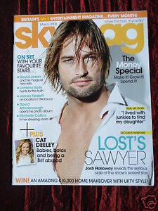 Details about SKY UK TV GUIDE MAGAZINE - MAR 2008 - CAT DEELEY - LOST JOSH  HOLLOWAY