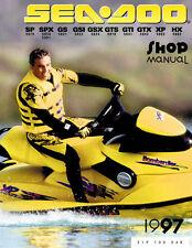 seadoo service shop manual 1997 sp spx gs gsi gsx gts gti gtx xp hx rh ebay com 1998 Seadoo GSX Specs 1998 Seadoo Bombardier