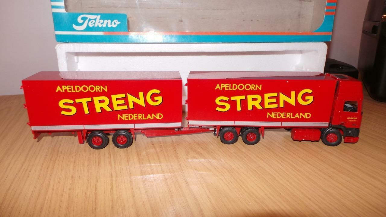 HB39  Tekno 1 50 Scale DAF 95 Streng Netherlands Rigid & Trailer - Exc   Boxed