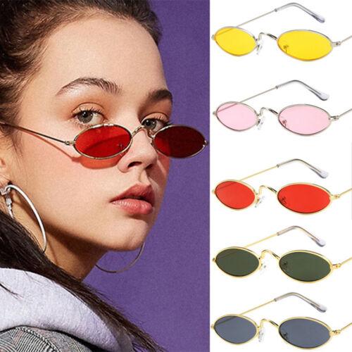 Women Men Fashion Vintage Oval Sunglasses Brand Small Slim Lens Sun Glasses/&UTS