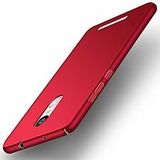 Sleek Rubberised Matte Hard Case Back Cover For XIAOMI MI REDMI NOTE 3 RED