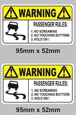 fenêtre signe vinyle decal sticker Fc règles pour les passagers funny novelty voiture dash