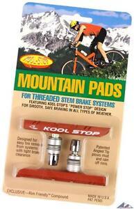 Kool-Stop Mountain Bike Brake Pads Threaded Posts Dual-Compound Black Salmon