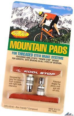 Kool-Stop Mountain Threaded Post V-Brake Pads Salmon Wet All-Weather Pads MTB