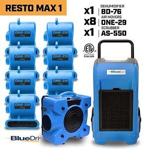 BlueDri RM-1 Industrial Commerical Dehumidifier, Air mover, Air scrubber
