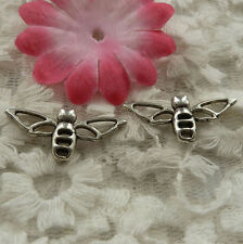 free ship 150 pieces Antique silver bee charms 17x14mm #4216