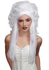 WHITE BOUFFANT CURLY SPIRIT GHOST WIG COSTUME MR177008